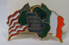 Metro Atlanta Police Emerald Society Pin - MAPES - Colorful Enamel Flags