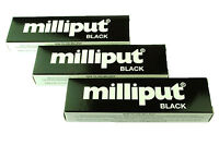 3 Packs Black Milliput Epoxy Putty Modelling Sculpt Ceramics Slate Repair X1019b