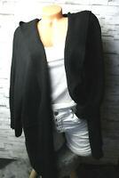 Italy Cardigan Strickjacke Jacke schwarz Gr. 36 38 40 42 Kapuze blogger NEU