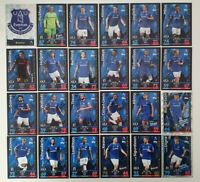 2018/19 Match Attax EPL Soccer Cards - Everton Team Set inc shiny