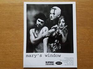 MARY'S Fenêtre 8x10 Noir et Blanc Press Publicité Photo 90's Alt Industriel Rock