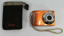 Kodak EasyShare C140 8.2 MP 3x Optical Zoom Lens Orange UVGC w/ Case