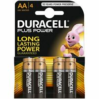 4 X Duracell Aa Plus Power Duralock Alkaline Batterien Zelle LR6