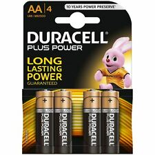 4 x Duracell AA Plus Power Duralock Alkaline Batteries Cell LR6 Non-Rechargeable