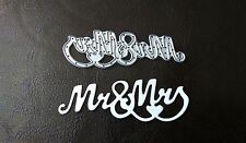 Sizzix Die Cutter WEDDING MR & MRS  Thinlits fits Big Shot Cuttlebug