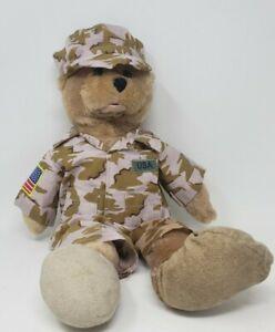 """Chantilly Lane Plush Musical Singing  19"""" Bear """"God Bless USA"""" American GI Hero"""