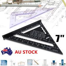 "Aluminium Alloy Roofing Imperial Miter Framing Measuring Square 7"" Protractor"