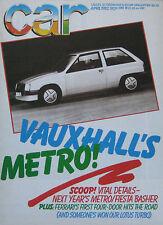 Car 04/1982 featuring Audi Quattro, DeLorean, Bentley, Talbot, Renault, VW Polo