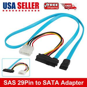 SFF-8482 SAS 29 Pin To 1 SATA Adapter Hard Disk Drive Splitter Data Cable 70cm