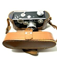 Argus 50mm Coated Cintar Film Camera with Leather Case USA Vintage
