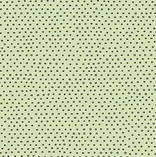 Pixie Dots~INK & ARROW~QT FABRIC~BY 1/2 YD~Tea-rrific~white on green~24299HJ