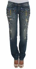 Dolce&Gabbana Women Crystal Embellished Girly Slim Fit Jeans It48/xl