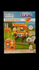 LITE BRIX Charlie Brown Snoopy Peanuts LEMONADE STAND Light Up Construction Toy