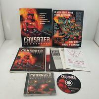 Crusader: No Remorse (PC, 1995) Original CD Big Box Complete