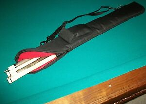 POOL STICK CUE CASE Soft Side Light Weight but Nicely Padded BLACK by Crystal