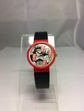 WOMEN'S SWISS SWATCH? WATCH COKE COLLECTABLE RARE WORKS RED BLACK WHITE