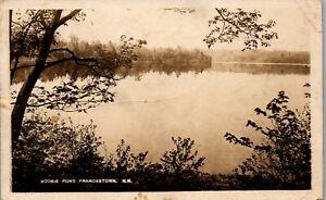 Scobie Pond, Haunted Lake Francestown NH RPPC 1933 Vintage Postcard PBA
