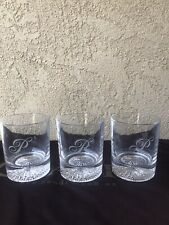 Old Fashioned Whiskey Scotch Bourbon Drinking Rocks Glasses, 8 oz - Set of 3