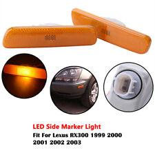 For LEXUS RX300 1998-2003 Front Bumper Reflector Side Marker Lights Left+Right