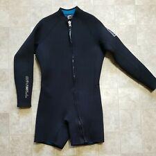O'Neill Mens Wet Suit XXL Solid Black Long Sleeve Shorty Neoprene Full Zip 5MM