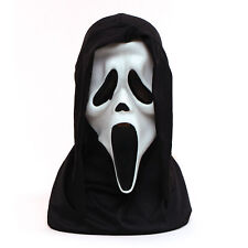 Official Howling WHITE SCREAM Horror Mask & Hood Halloween Adults Kids Fancy Dre