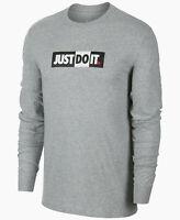 NEW Nike Sportswear JUST DO IT Tee Men's Long Sleeve Shirt Size M L XL