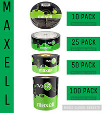More details for maxell dvd+r | recordable blank dvd discs media 25/50/100 pack | 4.7gb 120mins |