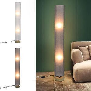 120 cm Tall Floor Lamp Lighting w/ Fabric Shade for Bedroom Living - Grey