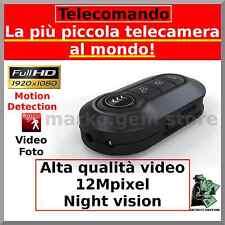 MICROSPIA PORTACHIAVI TELECOMANDO SPY SPIA VIDEOCAMERA FULL HD 1080 MOTION D.