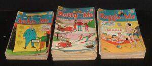 BIG LOT 57 vintage 1960s/70s BETTY, REGGIE, ARCHIE & ME low grade 12&15 cent