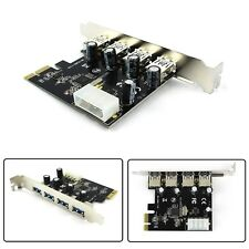 New 5 Gbps 4 Port PCI-E to USB 3.0 HUB PCI Express Card Adapter VL805 Chipset