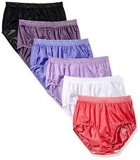 30d3fde9cc47 Fruit of the Loom Para Mujer 6 Pack Surtido Nylon Breves Bragas 3X-Grande 10