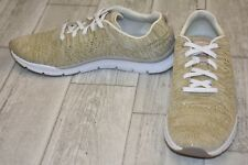 Easy Spirit Ferran Knit Athletic Sneakers, Women's Size 8.5M, Taupe/Gold NEW