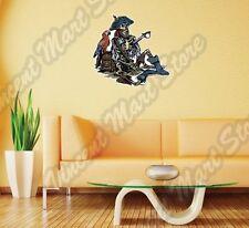 "Pirate Skeleton Sailor Dead Parrot Wall Sticker Room Interior Decor 22""X22"""