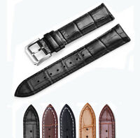 Genuine Leather Watch Band Top Alligator Grain Calf  Watch Strap 16mm-24mm
