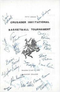 1980 Wheaton Crusaders Basketball Tournament Program Signed HC Dick Helm 2AC +24