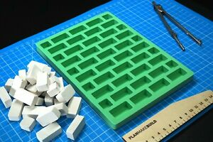 Brick mould for miniature, DIY building mini block for craft, modeling, diorama