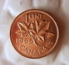 1966 CANADA CENT - AU/UNC RED - From Mint Roll - BARGAIN BIN #AAA