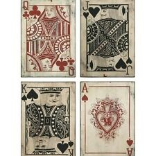 Game Room Wall Decor Hanging Bar Pool Hall Home Picture Poker Playing Card Art