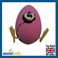 Egg Chick Pink Newborn Baby Girl Car Aerial Ball Topper or Dashboard Wobbler