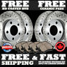 P0328 FRONT+REAR Cross Drilled Brake Rotors and Ceramic Pads