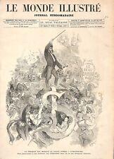 Paris Bal Masqué à l'Opéra Garnier l'Orchestre Le Beau Danube Bleu GRAVURE 1877