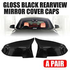 Gloss Black Rear View Mirror Cover Cap For BMW F20 F21 F22 F30 F32 F36 X1 F87 M3