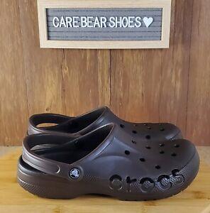NEW Crocs Baya UNISEX Brown Slip On Clogs 10126-206 Brown Men's Size 10 WMN 12