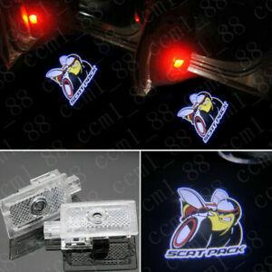 2x Scat Pack Logo Ghost LED Door Shadow Laser Lights For Dodge Charger 2006-2020