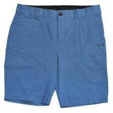 Oakley Woven Short Pants Mens Size 36 XL Plain Ocean Blue Casual Walkshort