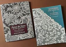 Special Pair of Point De Gaze and Youghal Needle Lace Books by E. Kurella