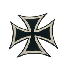 Iron Cross Biker Iron on/Sew on Embroidered Patch/Badge T-shirt Patch