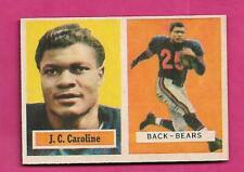 1957 TOPPS  # 79 BEARS J C CAROLINE ROOKIE EX-MT CARD (INV# C4803)