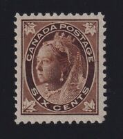 Canada Sc #71 (1897) 6c brown Maple Leaf Mint VF NH MNH